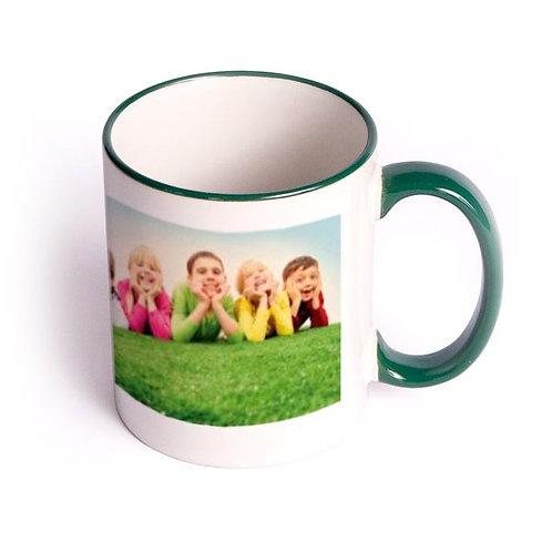11oz. Color Rim & Handle  Deco Ceramic Mug