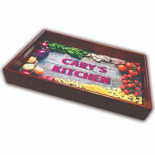 12x18 Wooden Tray with imprinted felt.