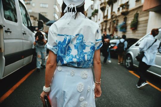 Street Style Garbagelapsap  Milan fashion week  prada