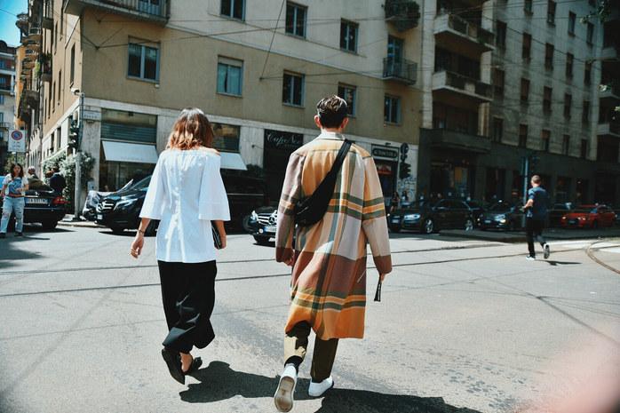 Street Style Garbagelapsap fashion week Milan zegna