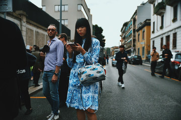 Street Style Garbagelapsap  Milan fashion week sussie bubble