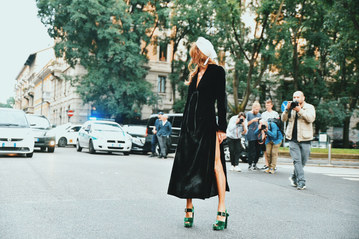 Street Style Garbagelapsap  Milan fashion week anna della russo