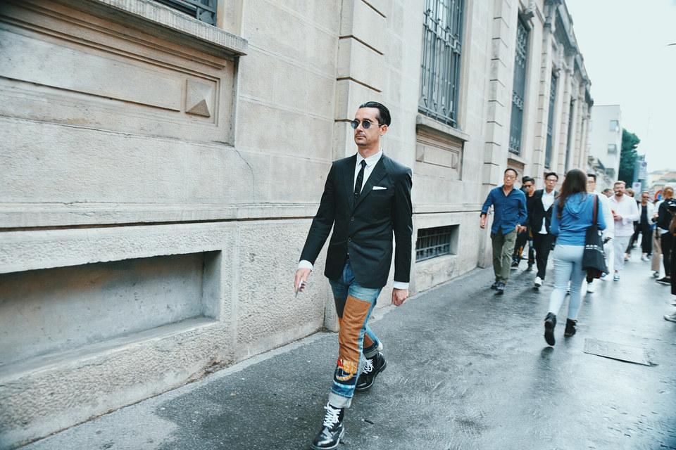 Street Style Garbagelapsap  Milan fashion week junya watanabe