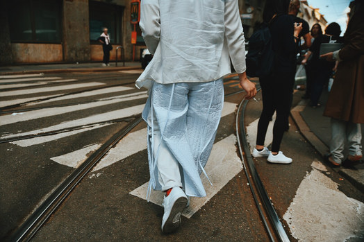 Street Style Garbagelapsap fashion week Milan craig green