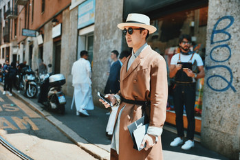 Street Style Garbagelapsap fashion week Milan
