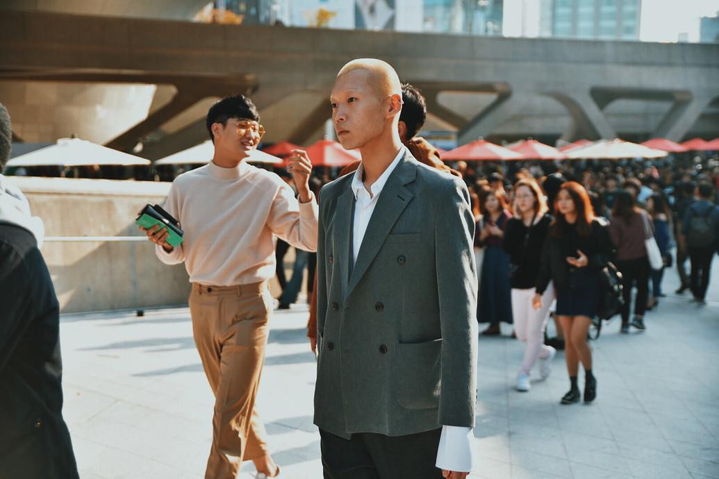 korean model off duty street style