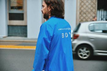 comme des cargon BOY raincoat Street Style Garbagelapsap  Milan fashion week