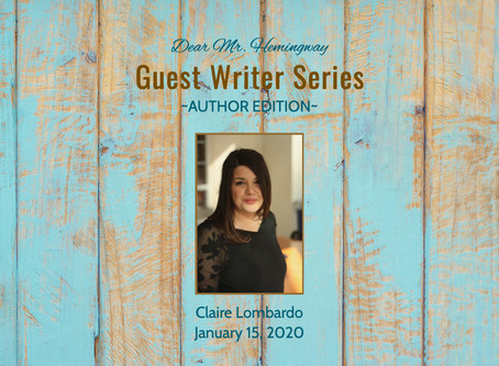 GUEST WRITER~Claire Lombardo