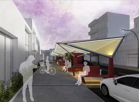 Arquitetos da e-DAU projetam abrigo urbano para um sistema de delivery no Brasil