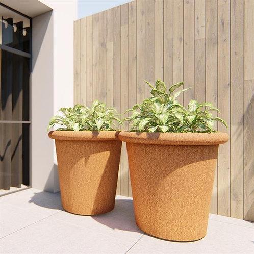 CORTEN-Blumenkübel konisch mit Rand