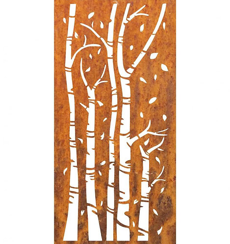 Sichtschutz Edelrost Bambus