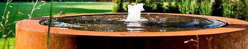 CORTEN-Wassertisch rund