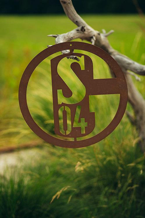 Schalke 04 Logo zum Hängen