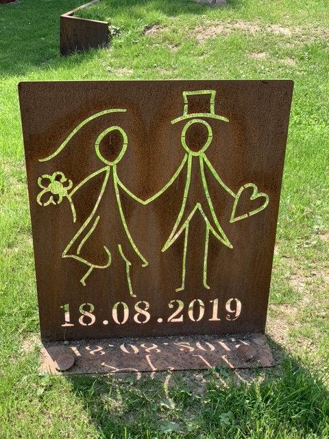 """Schild """"Brautpaar"""""""