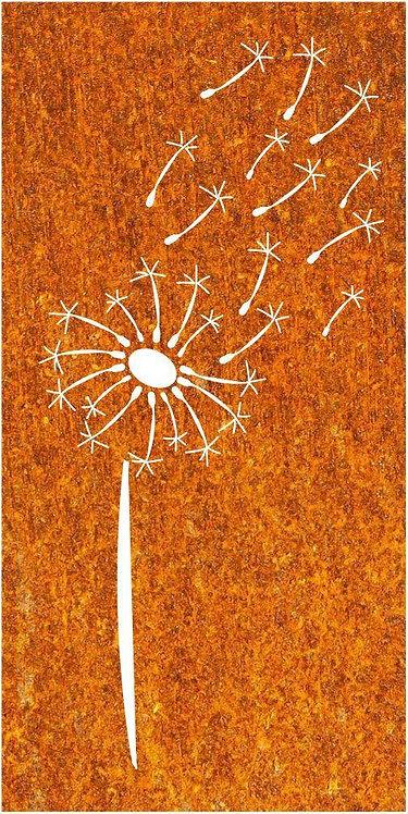 Sichtschutz Edelrost Pusteblume