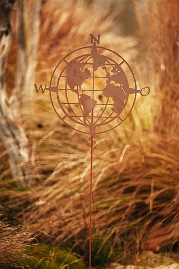 Gartenstab Weltkugel