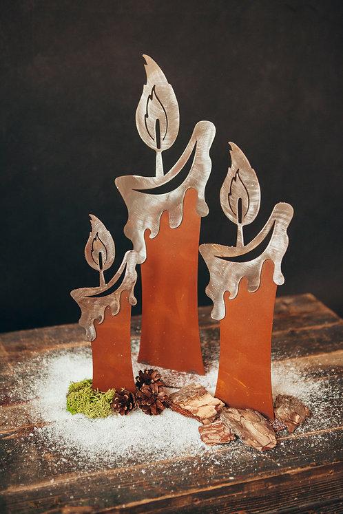 Kerze mit glänzender Flamme Gr. I, Gr. II &Gr. III