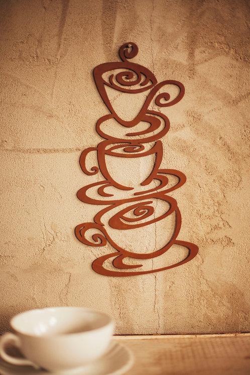 Wandbild Kaffeetassen