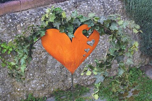 Gartenstab - Herz zum Bepflanzen