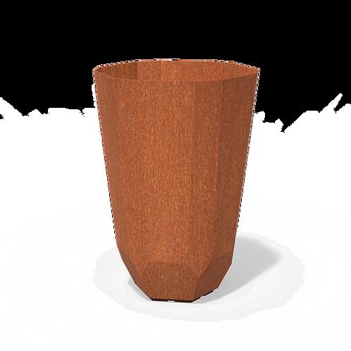 CORTEN-Blumenkübel Polygon