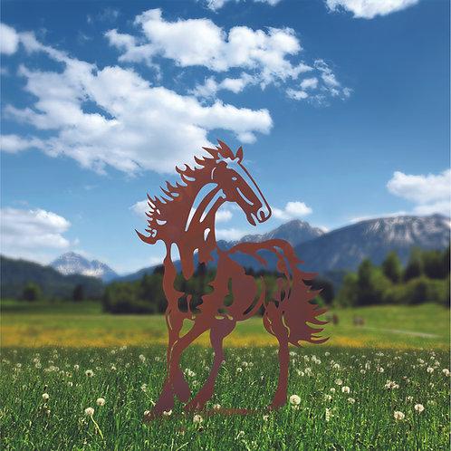 Pferd auf Platte