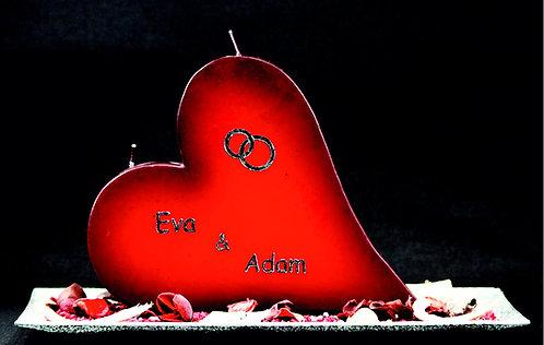 Hochzeitskerze Nr. 360 Rot
