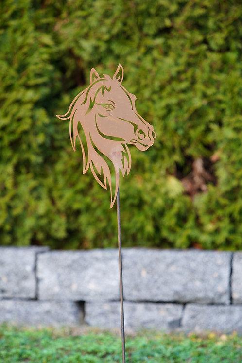 Gartenstab Pferdekopf
