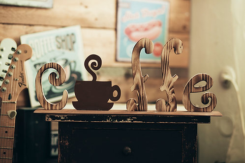 """Schriftzug """"Coffee"""""""