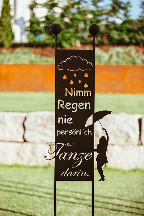"""Gartenstecker """"Nimm Regen"""""""
