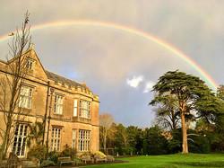 Glastonbury - Double rainbows over our venue
