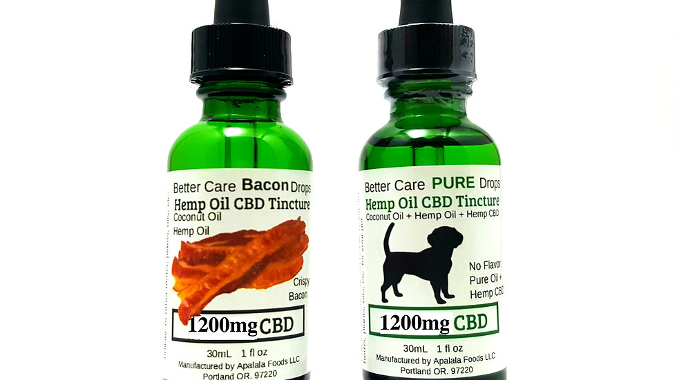 Better Care Oil 1200mg for Large to XXL Dogs, Older, Healing or Chronic Need