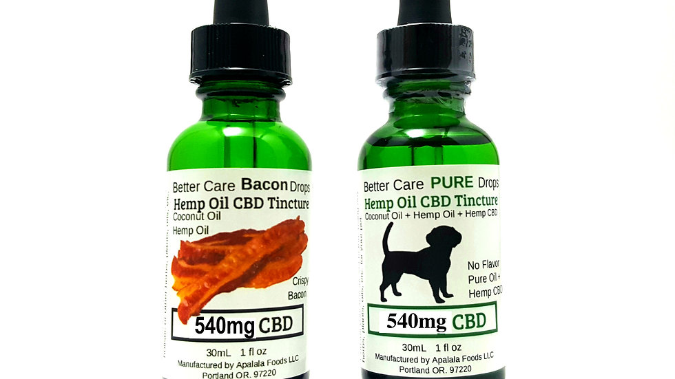 Better Care Oil 540mg for Large, Older and Chronic Needs Dogs