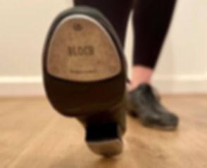 The underside of a tap shoe