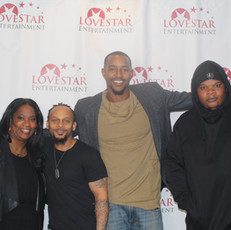 Actress Urssula Waters, Mo Murray, Isaiah Branch and supporters