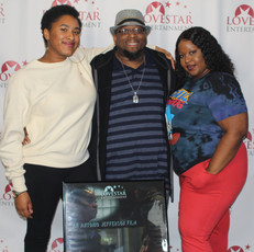 Director/Editor Antonio Jefferson and his daughters, Kayla and Cearra