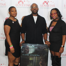 Actor Brandon Tapp and supporters