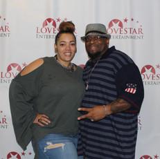 Supporter Alicia and Director Antonio Jefferson