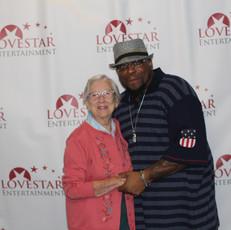 Supporter Mrs Imm and Director Antonio Jefferson
