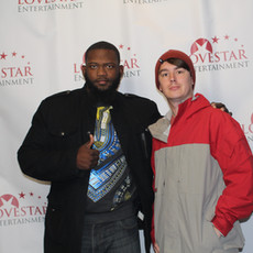 Actor Joshua Taylor and supporter