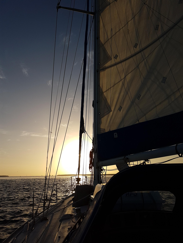 Sailing and sunrise