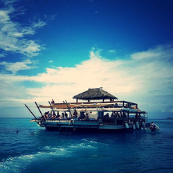 Stunning day at pontoon day club  _cloud9_fiji Clearest blue water and reef.._edited