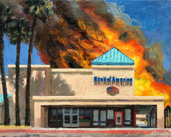 Burning Bank of America