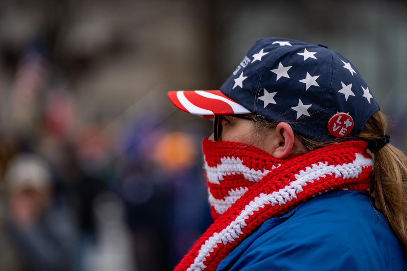 WASHINGTON DC –– January 6, 2021: Trump MAGA Rally at Freedom Plaza