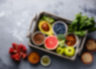 Healthy food clean eating selection in w