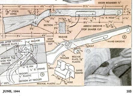 Vintage Crossbow Plans - Popular Mechanics