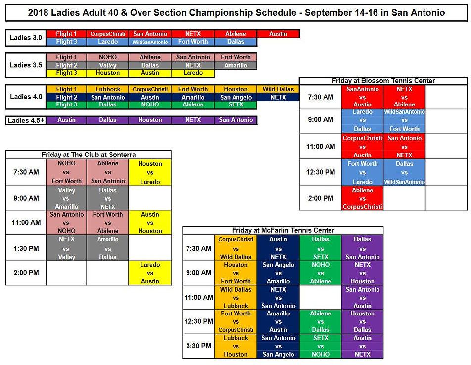 Women's 40+ Sectional Schedule.JPG