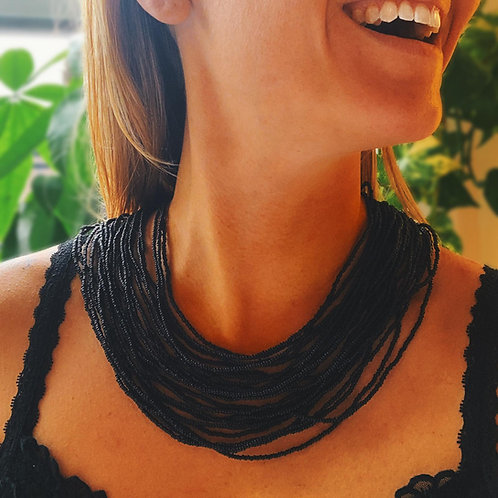 Short Layered Embera Necklace