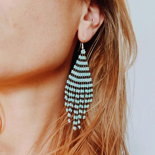 Embera Earring Turqouise Paradise