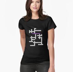 jk crossword fitted tee