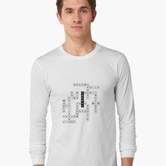 yoongi crossword long sleeve tee